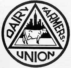 Old Dairy Farmers Union Logo at time of New York Milk Strikes
