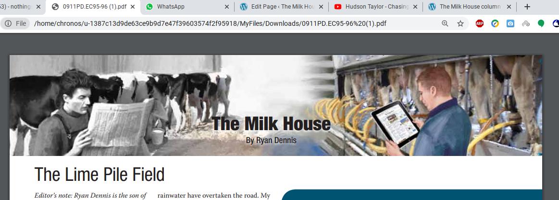The Milk House column