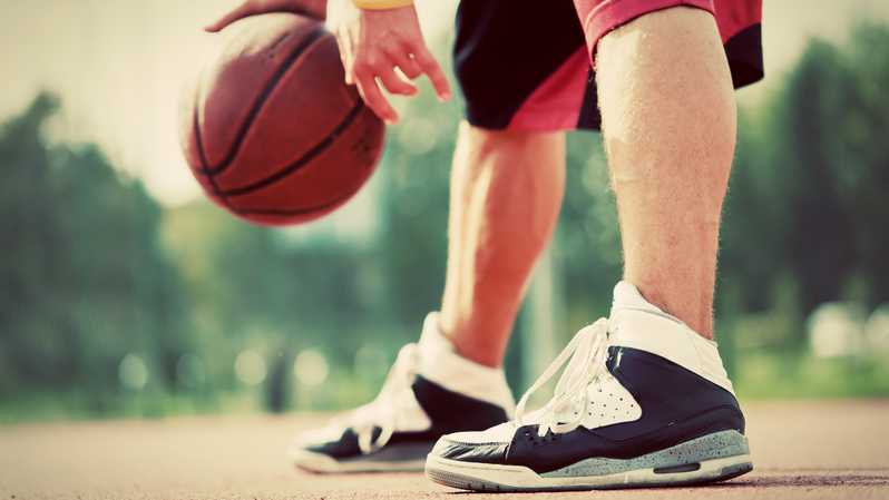 pickup basketball game